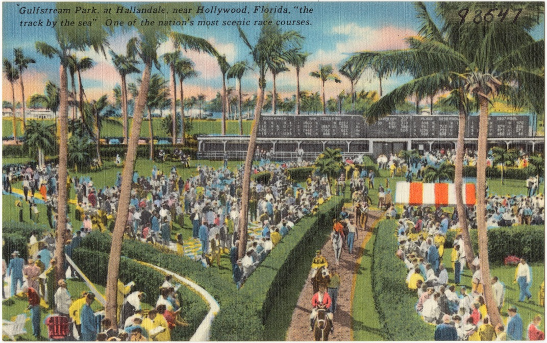 Gulfstream Park - The Track by the Sea - public domain