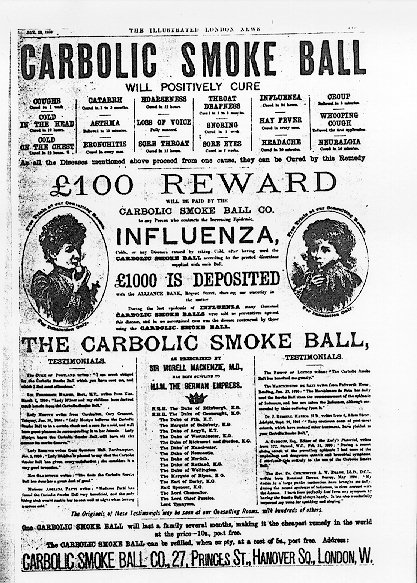 The Carbolic Smoke Ball offer Carbolic Smoke Ball Company Transwiki details Original uploader was Dostal at en.wikipedia - Advertisement in The Illustrated London News, 1893 transwiki details Transfered from en.wikipedia Transfer was stated to be made by User:Ddxc.