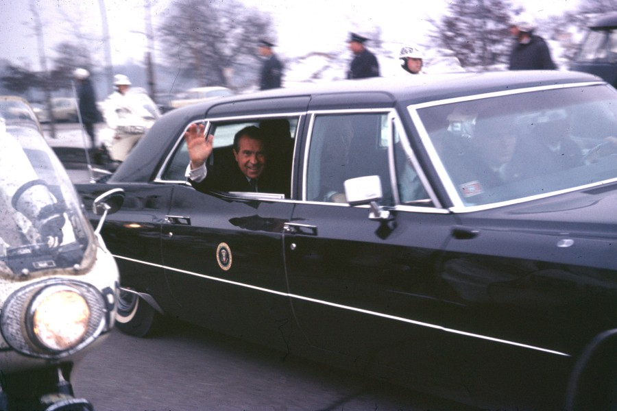 US - President Richard Nixon in Berlin